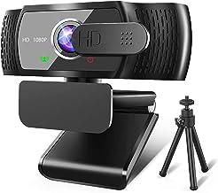RLBUNZ 1080P Webcam mit Mikrofon, Full HD PC/Laptop Webkamera mit Stativ, Automatischer Lichtkorrektur, USB 2.0 Plug & Pla...
