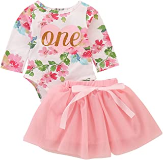 pink and gold first birthday dress