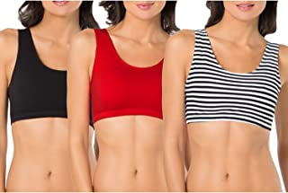 ed9b10274e Fruit of The Loom Women s Built-Up Sports Bra 3 Pack Bra