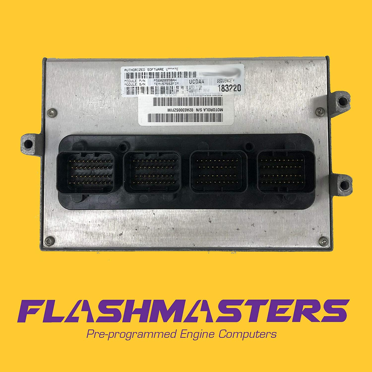 Flashmasters 2007 Ram 3.7L at PCM Max 72% OFF Be super welcome Engine ECM Computer P05094412