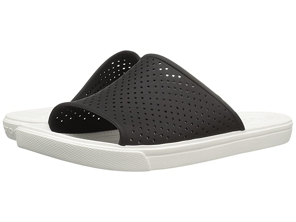 Crocs CitiLane Roka Slide (Black/White) Slide Shoes