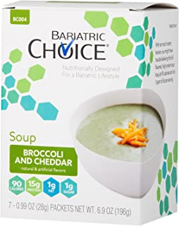 Bariatric Choice High Protein Soup Mix / Low-Carb Diet Soup - Broccoli and Cheddar (7 Servings/Box) - Low Carb, Sugar Free