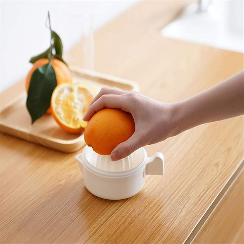 Exprimidor de cítricos Manual Exprimidor de Frutas de limón y Naranja Exprimidor de cítricos Manual con Filtro y Cuenco Exprimidor de limón para la Cocina del hogar (Blanco) Blanco