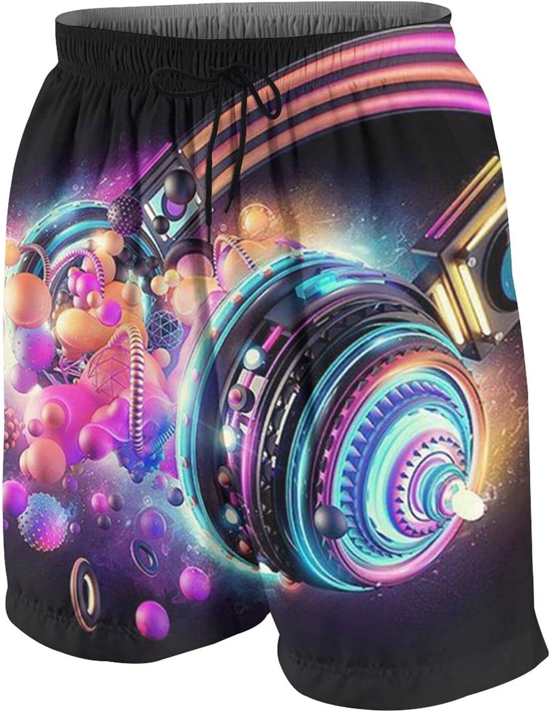 KAETZRU Boys Swim Trunks Phoenix Mall Beach Board Max 72% OFF Dj Abstract Music Shorts He