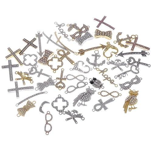 infinite love Heart Connectors DIY Crafts Beads Fit Bracelet 12//36pcs Silver
