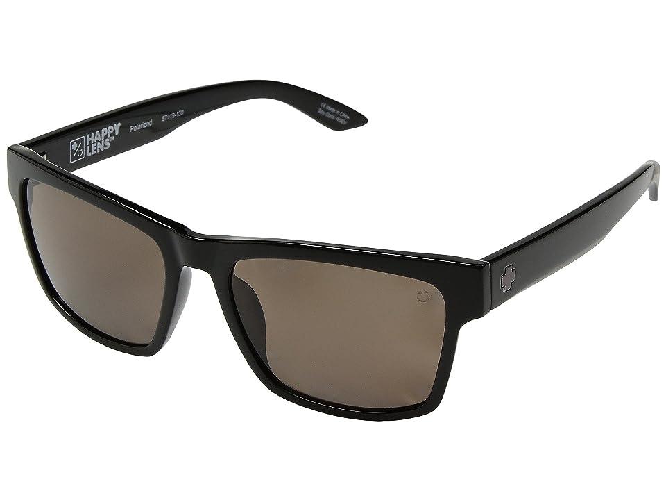 Spy Optic Haight 2 (Black/Happy Bronze Polar) Athletic Performance Sport Sunglasses