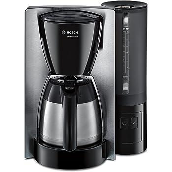 Bosch TKA8653 - Máquina de café, 1100 W, capacidad para 8/12 tazas, color blanco y negro: Amazon.es: Hogar