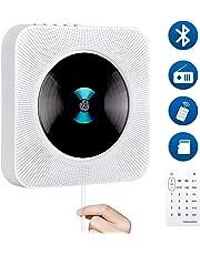 Ninonly CDプレーヤー 置き&壁掛け式 1台多役 ポータブル Bluetooth USB対応 microSD LEDディスプレイ 防塵カバー付き 日本語説明書付き 音楽再生/語学学習/胎児教育 2019年最新版
