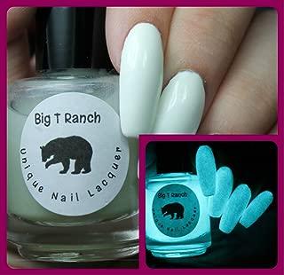 Glow-in-the-Dark Nail Polish Top Coat - FREE SHIPPING - Aqua - JUPITER - Nail Polish/Lacquer - Regular Full Sized Bottle (15 ml size)
