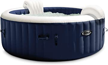 Intex 28429E PureSpa Plus 6.4 Foot Diameter 4 Person Portable Inflatable Hot Tub Spa with 140 Bubble Jets and Built in Hea...
