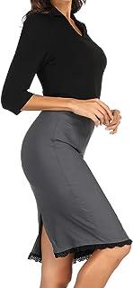 Belle Poque Women's Vintage Knee Length Peplum Pencil Skirts for Office BP815