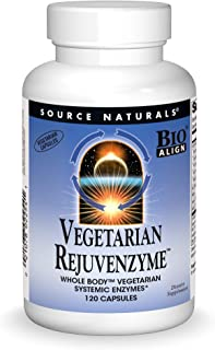 Source Naturals Vegetarian RejuvenZyme, Whole Body Vegetarian Systemic Enzymes, 120 Capsules