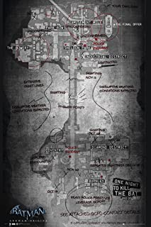 Batman Origins Map Of Gotham City 24x36 Poster Art Print