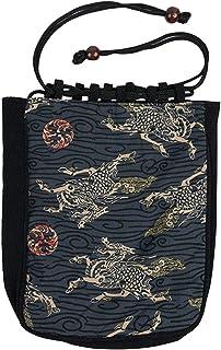 KYOETSU Men's Japanese Pattern Shingen Bukuro Bag Drawstring Bag (G-4)