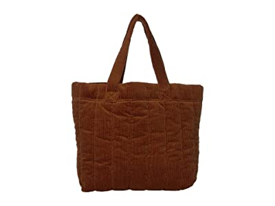 Madewell Quilted Transport Tote in Corduroy (Dark Tobacco) Handbags