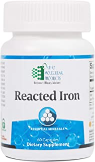 Ortho Molecular - Reacted Iron - 60 Capsules