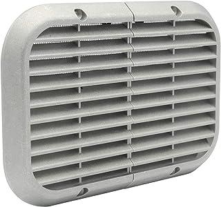 La Ventilation ASR2215 aluminiowa kratka oblodzenia z siatką przeciw owadom do zakładania. Wymiary: 220 x 150 mm