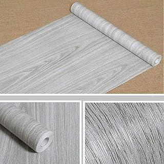 comprar comparacion Papier adhésif aspect bois pour comptoir, cuisine, armoires, mur, table, porte, bureau (gris, largeur de 45cm...