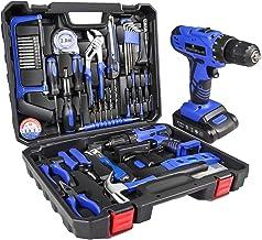 Gesponserte Anzeige – LETTON Werkzeugkoffer mit Bohrer 21V Akku, Haushaltshandwerkzeugsatz für die Reparatur zu Hause mit ...