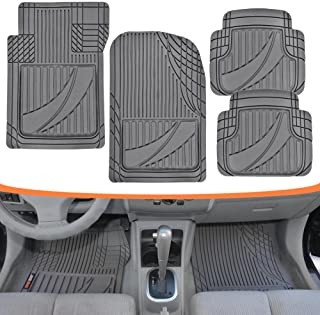Motor Trend FlexTough Advanced Performance Mats - 4pc HD Rubber Floor Mats for Car SUV Auto All Weather Plus (Gray) (MT-794-GR)