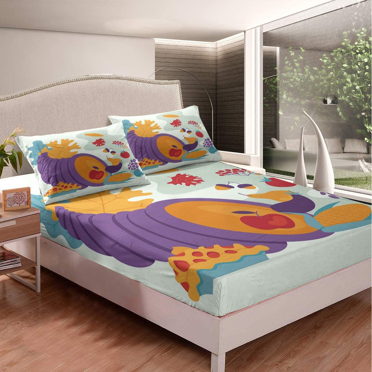 Food Collections Boys Girls Fitted Fruit Pattern Overseas parallel import regular item Full Save money Sheet Kids