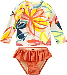 Tea Collection Rash Guard Swimwear Set, Girls, Tradewinds Floral