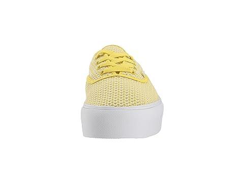 Summer Platform 0 Vans White Green True Mesh 2 Authentic Sheen v4qOICw7O