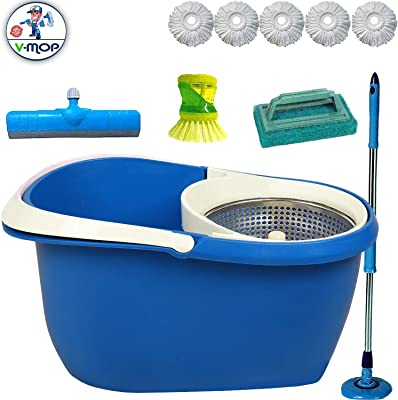 V-Mop Unbreakable Bucket Dry Magic Mop((Made in India))