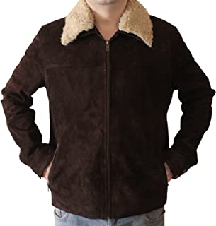 Men's Original Brown Suede Leather Jacket