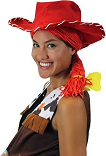 Toy Story Cowgirl Jessie Yarn-Braided Wig with Hat   Red Cosplay TV/Movie Wigs HW-3836