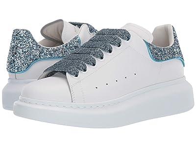 Alexander McQueen Oversized Sneaker (White/Ballroom Blue/Ballroom Blue) Women