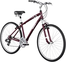 Diamondback Edgewood LX Men's Sport Hybrid Bike (2011 Model, 700c Wheels), Burgundy