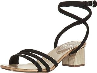 Chinese Laundry Women's Montezuma Heeled Sandal, Black Suede, 7.5 M US
