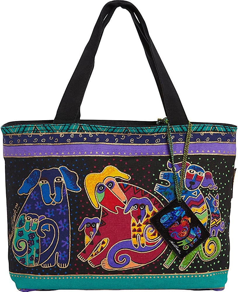 Laurel Burch `Dog Manufacturer OFFicial shop And Doggies` Denver Mall Tote Small Bag Purse