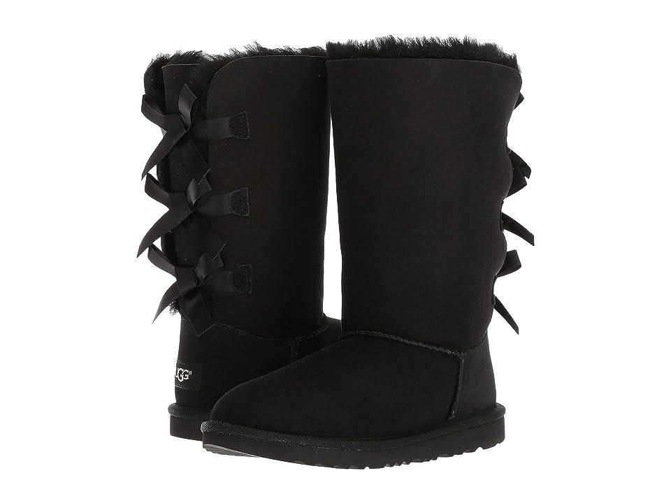 UGG Kids Bailey Bow Tall II (Little Kid/Big Kid) (Black) Girls Shoes