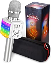 BONAOK Wireless Bluetooth Karaoke Microphone with controllable LED Lights, 4 in 1..
