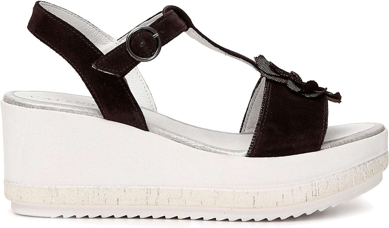 Cafè schwarz KHB627 Sandalo Sandalo T Modell MIT Blaume  Sparen Sie bis zu 70% Rabatt