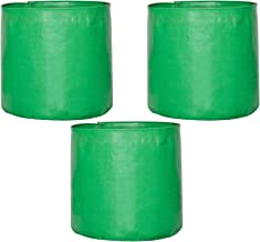 """Leafy Tales Terrace Gardening HDPE Green Grow Bag (15"""" X 15"""") - (Pack of 3) 