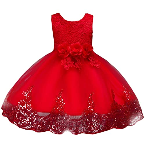 1b39ee475 IWEMEK Baby Flower Girls Tulle Lace Princess Dress Big Kids School Girls  Communion Ball Gown Dance