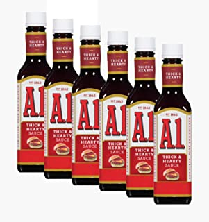 A1 Steak Sauce, Thick & Hearty, 10 oz (Pack of 6)
