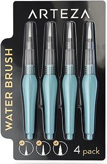 Arteza Water Brush Pen - Self-moistening - Portable - Watercolor - (Assorted Tips, Set of 4)