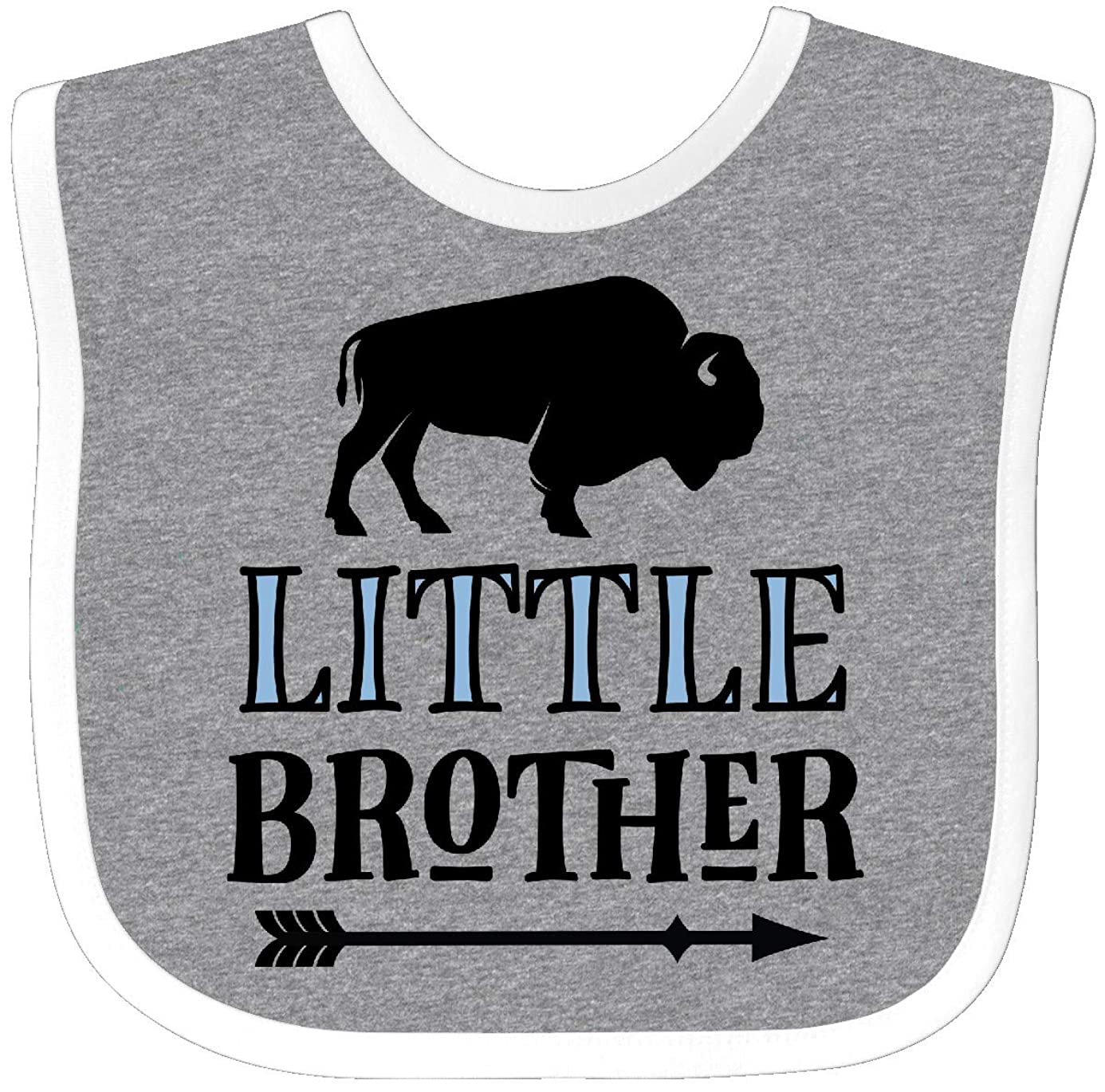 Inktastic - Little Brother Native Buffalo Baby Bib Heather/White 2e5f1 zzb2883703
