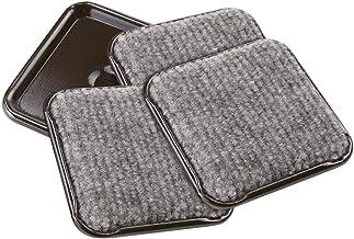SoftTouch 4292395N superfícies rígidas (4 peças), 3,5 cm parte inferior do carpete para móveis com rodízios quadrados para...