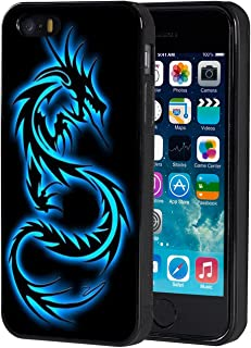 iPhone 5s Case,iPhone SE Case,AIRWEE Slim Anti-Scratch Shockproof Silicone TPU Back Protective Cover Case for iPhone 5/5s/SE,Blue Dragon