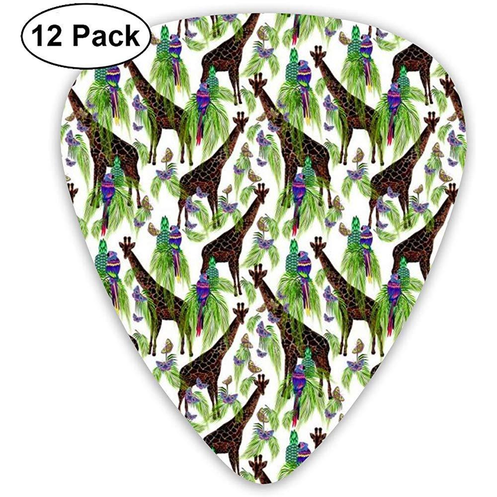 Giraffe Parrot Birds Butterflies 12 Pack Púas de guitarra, guitarras eléctricas y acústicas: Amazon.es: Instrumentos musicales