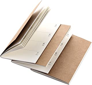 Robrasim Refill Inserts for Pocket Leather Traveler's Notebook - Set of 3
