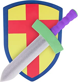 Children's Foam Toy Medieval Joust Sword & Shield Knight Set Lightweight Safe for Birthday Party Activities Event Favors T...