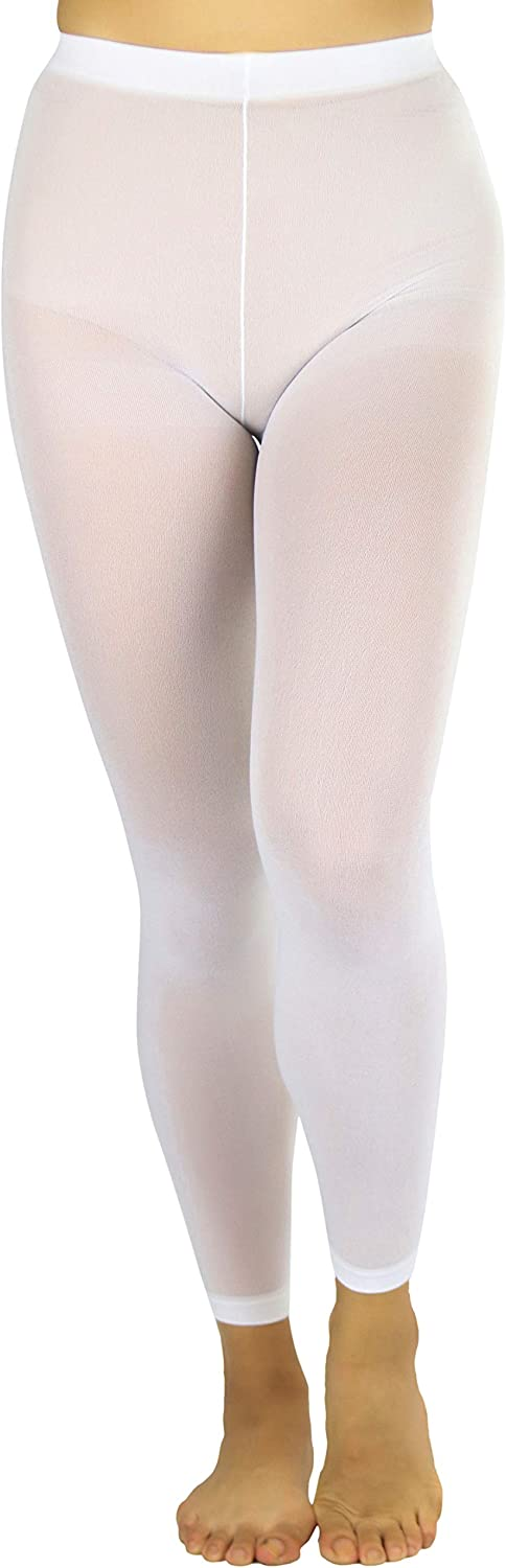 ToBeInStyle Women's Opaque Ankle Long Nylon Footless Fun Tights Pantyhose