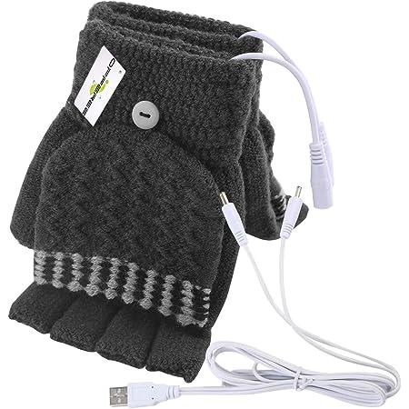 offeree グローブ 手袋 ヒーター USB式 電熱 冬 冷え性対策グッズ40°C +/- 5°C ハーフ フルフィンガー 両用 丸洗え USBハンドウォーマー USBヒーター内蔵 快速加熱 パソコン 外出作業などに対応 入学式 ギフト