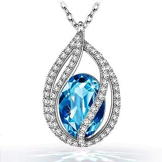 Kami Idea - Lágrimas De La Sirena - Collar, Cristal de Swarovski, Diseño Original, Símbolo de Seguridad y Felicidad, Embal...